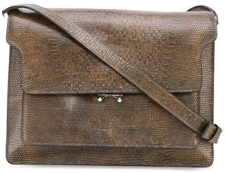 Marni Trunk lizard-print shoulder bag
