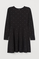 H&M Cotton Dress with Glitter - Black