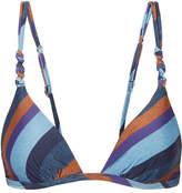 Vix Chambray Rope Striped Triangle Bikini Top - Blue
