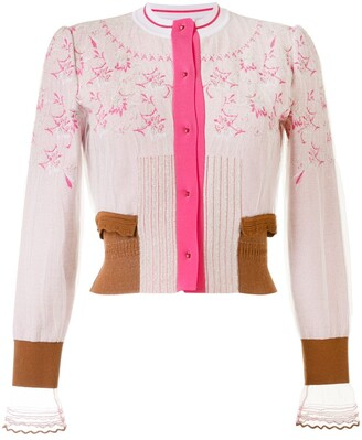 Mame Kurogouchi Floral Embroidered Cardigan