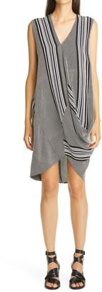 Zero Maria Cornejo Ulla Stripe Drape Dress
