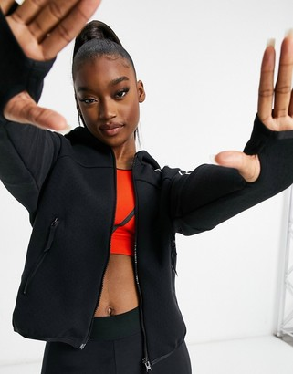 adidas Training ZNE hooded jacket in black