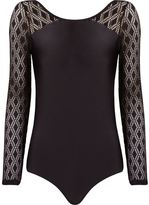 Lygia & Nanny - lace longsleeved swimsuit - women - Polyamide/Spandex/Elastane - 40