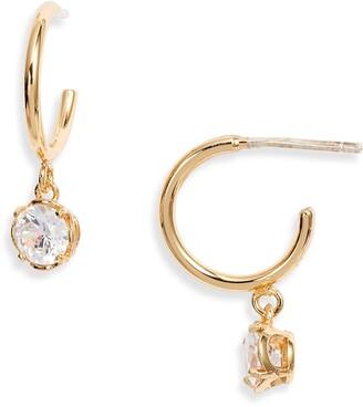 Kate Spade Mini Stone Huggie Hoop Earrings