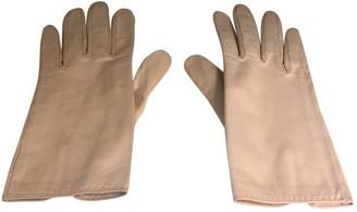 Hermes Ecru Leather Gloves