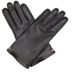Gucci Grained-leather gloves