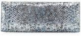 Nancy Gonzalez Metallic Python Razor Clutch Bag
