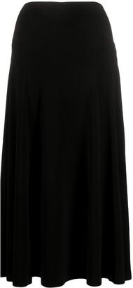 Norma Kamali High-Waisted Midi Skirt