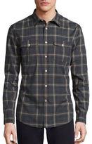 John Varvatos Cotton Plaid Shirt