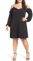 MICHAEL Michael Kors Plus Size Women's Ruffle Cold Shoulder Shift Dress