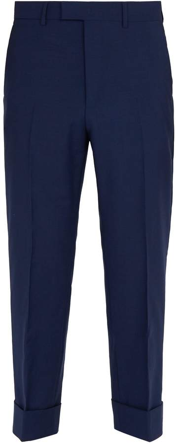 Gucci Cropped mohair and wool-blend trousers