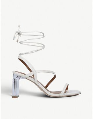 Kurt Geiger Belen crocodile-embossed leather sandals