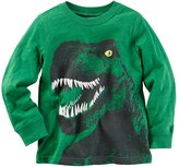 Carter's Baby Boy Green Long Sleeve Dinosaur Graphic Tee