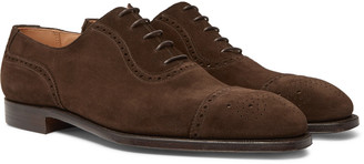 George Cleverley Adam Cap-Toe Burnished-Leather Oxford Brogues