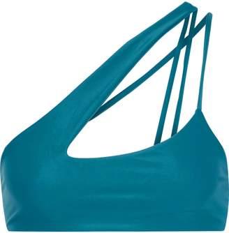 Mikoh Queensland One-shoulder Cutout Bikini Top