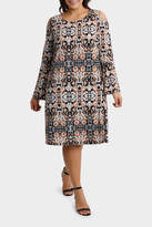 Souk Print Cold Shoulder Jersey Dress