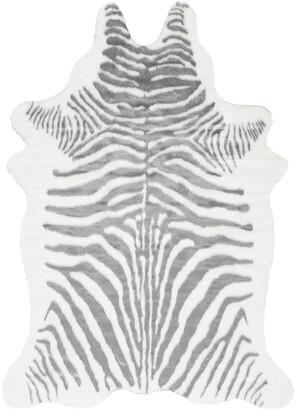 nuLoom Alyssa Faux Zebra Cowhide Rug