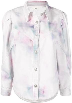 Etoile Isabel Marant Leona bleached denim jacket