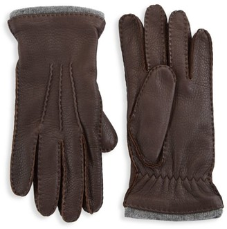 Saks Fifth Avenue COLLECTION Pebbled Leather Gloves
