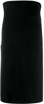 Yves Saint Laurent Pre Owned 1980's Flappy Waist Pencil Skirt