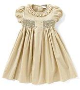 Edgehill Collection Little Girls 2T-4T Mini-Dot Smocked Dress