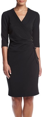 Gabby Skye Women's Solid Sheath Dress with Lace up Side