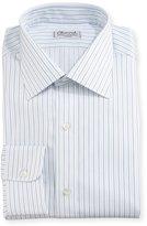 Charvet Multi-Stripe Dress Shirt, White/Blue/Black