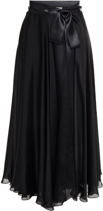 Alexandre Vauthier Bow-detailed Silk-satin Midi Skirt