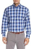 Thomas Dean Classic Fit Gradient Check Sport Shirt