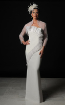 Daymor Couture - Ruffled Bodice Evening Gown with Bolero Jacket 501