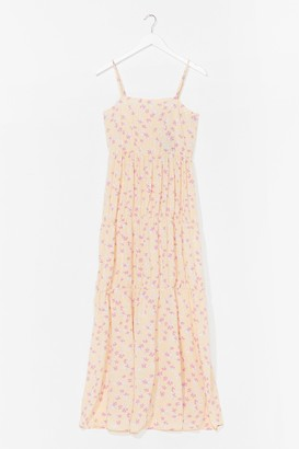 Nasty Gal Womens Just What We Seed Floral Maxi Dress - Lemon