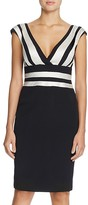 Kay Unger Striped Sheath Dress