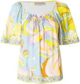 Emilio Pucci floral shift blouse
