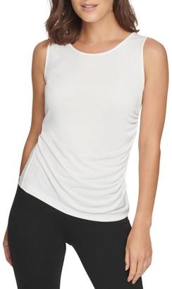 Donna Karan Side Drape Top