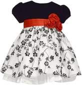 Bonnie Jean Toddler Girl Velvet Floral Dress