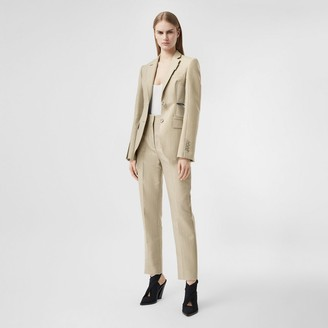 Burberry Cut-out Detail Technical Wool Blazer