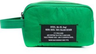 Diesel Logo Patch Wash Bag