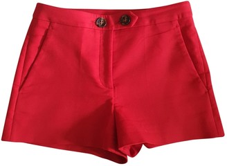 Valentino Red Red Cotton - elasthane Shorts for Women