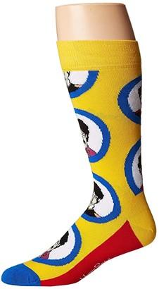 Happy Socks Beatles Submarine Sock (Medium Yellow) Men's Crew Cut Socks Shoes