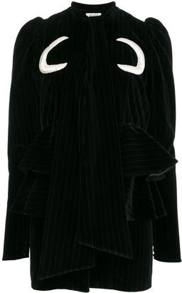ATTICO Luna cotton-velvet mini-dress
