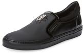 Roberto Cavalli Mixed Media Slip-On Sneaker