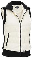 Black Rivet Womens Puffy Vest W/ Knit Trim