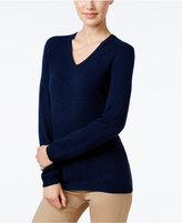 Charter Club Petite Cashmere V-Neck Sweater, Only at Macy's