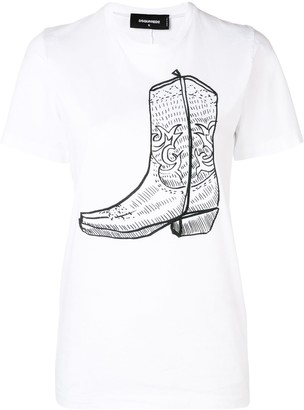 DSQUARED2 Boot print T-shirt