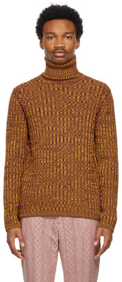 Gucci Yellow and Brown Vanise Knit Sweater