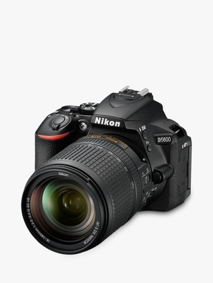 Nikon D5600 Digital SLR Camera with 18-140mm VR Lens, HD 1080p, 24.2MP, Wi-Fi, Optical Viewfinder, 3.2 Vari-Angle LCD Touch Screen, Black
