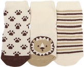 Robeez Ivory Tiny Lions Three-Pair Socks Set