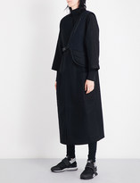 Y-3 Y3 Waistcoat-detail oversized wool-blend coat