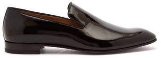 Christian Louboutin Dandelion Patent-leather Loafers - Black