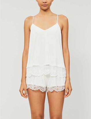 Eberjey Carmela cotton-blend jersey pyjama top